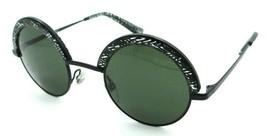 Alain Mikli Sunglasses A04003 4112/71 46-25-135 Black Green Chevron / Da... - $85.36