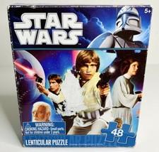 Star Wars Lenticular 48 Piece Puzzle, Han Solo Luke Skywalker New, Open Box - $5.99