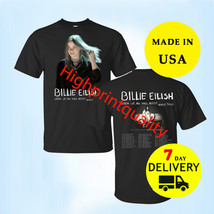 Billie Eilish Shirt 'When We All Fall Asleep World Tour' 2019 T-Shirt Bl... - $24.99+