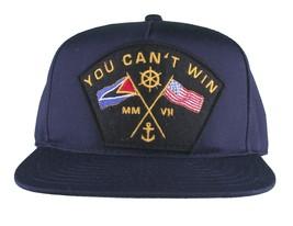 Motivation You Cant Win Naval Navy Blue Snapback Baseball Hat Cap NWT