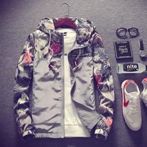 2018 Floral Bomber Jacket Men Hip Hop Slim Fit Flowers Pilot Bomber Jacket Coat