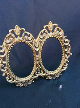 Brass  Double Frame Baroque Vintage - $34.20