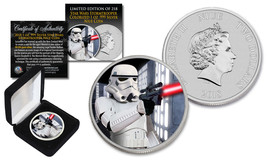 2018 NZM Niue 1 oz Pure Silver BU Star Wars STORMTROOPER Coin with DEATH... - $59.35