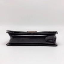 AUTHENTIC CHANEL BLACK LARGE GLAZED BOY FLAP BAG SHW image 3