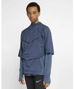 Nike Tech Pack Therma Sphere Transform Long Sleeve Running Jacket Blue M... - $56.99