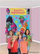 TROLLS Scene Setter Birthday Party Wall Decoration Backdrop ~12 Photo Pr... - $12.77