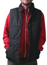 Orisue Mens Gladden Polyfill Black Puffy Golf Vest with Plaid Lining Large NWT image 2