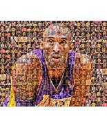 Kobe Bryant Photo Mosaic Print Art using 50 different images of Kobe  - $16.99+