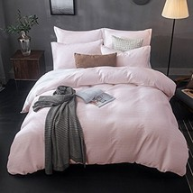 Merryfeel Cotton Duvet Cover Set,100% Cotton Sand Washed Cotton Waffle Weave Bed