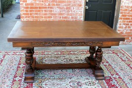 French Antique Oak Wood Draw Leaf Renaissance Table | Dining Room Furniture - $2,622.00
