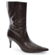 COLE HAAN CITY Mid BOOTS Womens size 8.5 B Brown Leather Pointy Stiletto... - $46.74