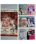 Vintage Spartito 1940s Film Songs Lotto da 7 Canto - $31.27