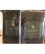"""New Ralph Lauren 100% Linen Black Standard """"India"""" Shams Rare! Pair set ... - $92.57"""