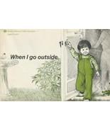 When I Go Outside 1970s Vintage Childrens Book AAA Gloria Kamen - $8.90