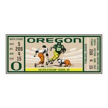 "Fanmats NCAA Oregon Ducks Ticket Runner Mat Area Rug Large 30"" x 72"" Del 2-4 Day - $54.44"