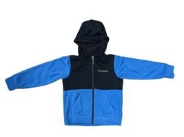 Columbia Boys Full Zip Fleece Hoodie Jacket Super Blue Heather/College Navy - $22.99