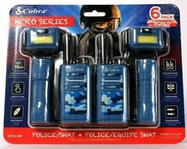 Cobra 6 Pack Hero Series Police/Swat 2 Walkie Talkies 2 Headlamps 2 Flas... - $47.99