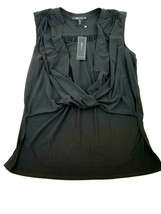 New Bcbg Maxazria Women Blouse YDM1242720-001 052019 Black L Msrp - $41.96