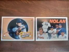 1991 Upper Deck Baseball Heroes Nolan Ryan 15 of 18 AND 18 of 18 - $4.95