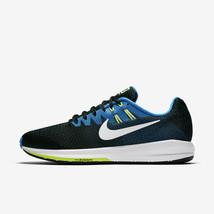 HOMBRE Nike Air Zoom Estructura 20 Zapatos Talla 15 Black Blanco Azul 84. 8191fae407665