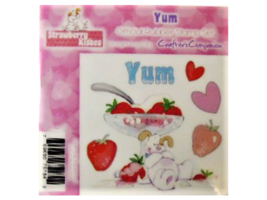 Crafter's Companion Strawberry Kisses Yum Rubber Cling Stamp Set #STBK-YU-EZ image 1