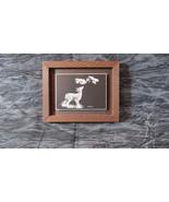 "Original Ken Smith Scratchboard Wildlife Miniature Fawn & Blue Jay, 5""x4... - $17.60"