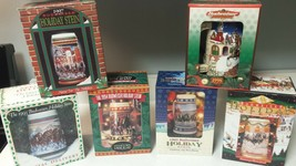 LOT OF 6 BUDWEISER HOLIDAY STEIN COLLECTION 1993 1994 1995 1996 1997 199... - $89.10