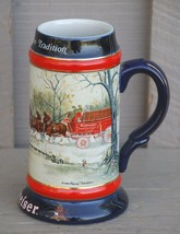 Vintage Budweiser 1990 Collector's Series Beer Stein Clydesdales 8-Horse Hitch - $19.79