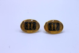 Vintage Gold Toned Cuff Links with Australia Logo - $8.00