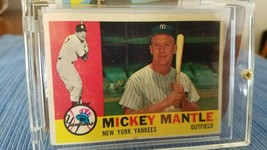 Super SHARP 1960 Topps Mickey Mantle New York Yankees #350 Baseball Card - $286.11