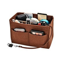 Purse organizer insert,Kumako Felt Bag (Large|Coffee) - £19.40 GBP