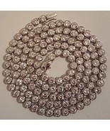 Sterling 925 Silver Lab CZ Bezel Chain Necklace 6mm 36.5 in 105 gm hip h... - $299.99