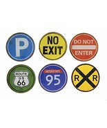 Road Trip Signs Glass Coasters - Set of 6 - $11.93
