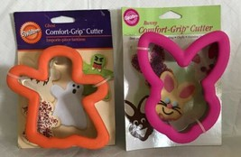 WILTON COMFORT GRIP Cookie Cutters (Retired) GHOST & BUNNY RABBIT NEW HTF - $38.98 CAD