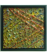 Paths and Peaks-Encaustic Original  Painting - $480.00