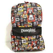 Disneyland Resort Mickey Mouse Backpack Authentic Disney Parks Collage N... - $32.37