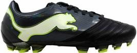 Puma Powercat 1.12 FG Black/Dark Shadow-White-Lime Punch 102470 02 Men's... - $49.87
