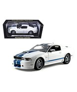 2011 Ford Shelby Mustang GT350 White with Blue Stripes 1/18 Diecast Mode... - $83.57