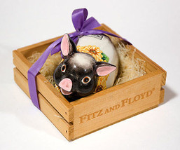 FITZ AND FLOYD COUNTRY SUNFLOWER PIG HOG POMANDOR IN CRATE 1992 RETIRED - $25.24