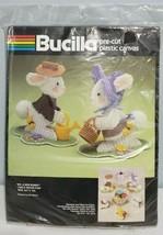 NEW Bucilla Plastic Canvas Kit Mr. & Mrsx Bunny #5968 Vintage Easter Tab... - $33.24