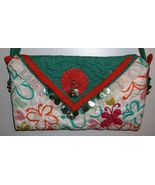 Handmade Quilted Beaded Purse Handbag Original Design by Pursephoric Bra... - $14.95