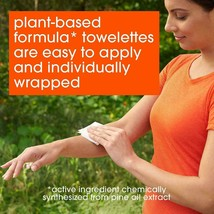 OFF! Botanicals Plant-Based Deet Free Insect Repellent Towelettes 10-Count NEW image 2