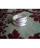 Bracelet Sterling Silver Spring Hinged Bypass Clamp Cuff 925 65g - $79.95