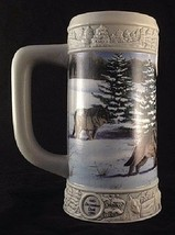 Miller Brewing Holiday Stein 1999 December Dusk Eric Bryant Wolves Numbe... - $18.69