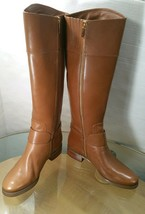 Michael Kors Women's Tall Knee High Brown Leather Riding Boots Sizes 5.5... - £31.77 GBP