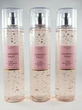 (6) Bath & Body Works Champagne Toast Pink Gold Sparkle Mist Spray 8oz New - $64.20