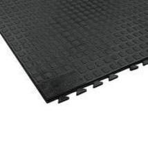 Wearwell Interlocking Antifatigue Mat, Urethane, Black, 3 ft. x 3 ft, 1 EA - 502
