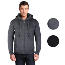 Niko Sportswear Men's Multi Pocket Fleece Lined Hooded Zip Up Jacket BJH-01 image 1