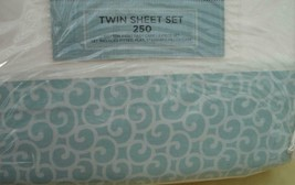 Cannon Whispering Leaf Sheet Set - Brand New Pack - Cotton Blend 250 Tc Twin - $34.99