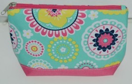 WB M715PIPER Polyester Canvas Piper Cosmetic Bag Hot Pink Bottom Zipper Closure image 1
